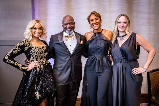 Pat and Emmitt Smith, Robin Roberts, Amber Laign.j