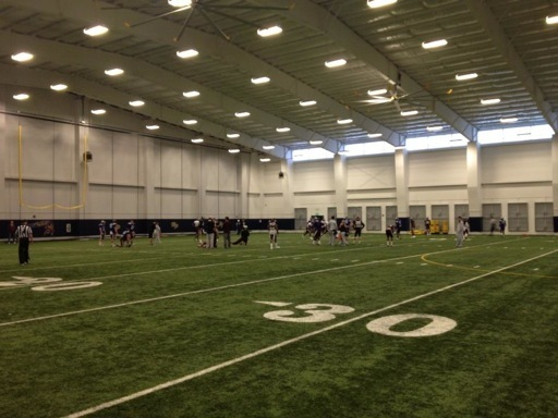 HPHS Indoor Football Facility Used By Texas A&M Aggies For Cotton