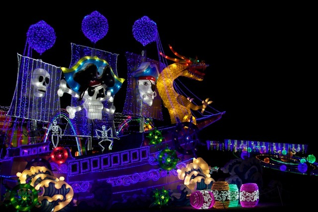for a holiday light show that also includes a lantern festival just in time for the holidays head to lone star park this year from now until january 7