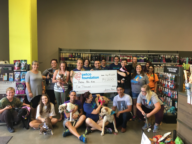 Dallas Pets Alive! Awarded $5,000 from Petco Foundation and