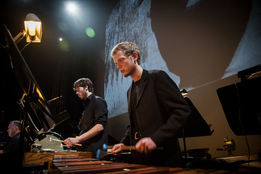 Meadows Percussion Ensemble and SYZYGY will perfor